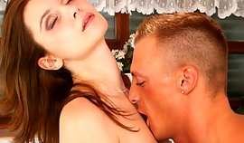 Aroused guy pending making out with this cum gutter is makingout her passionetly
