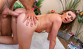 Cruel anal orifice beating on my carpet